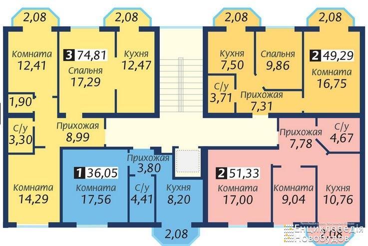 Монолит планировки квартир